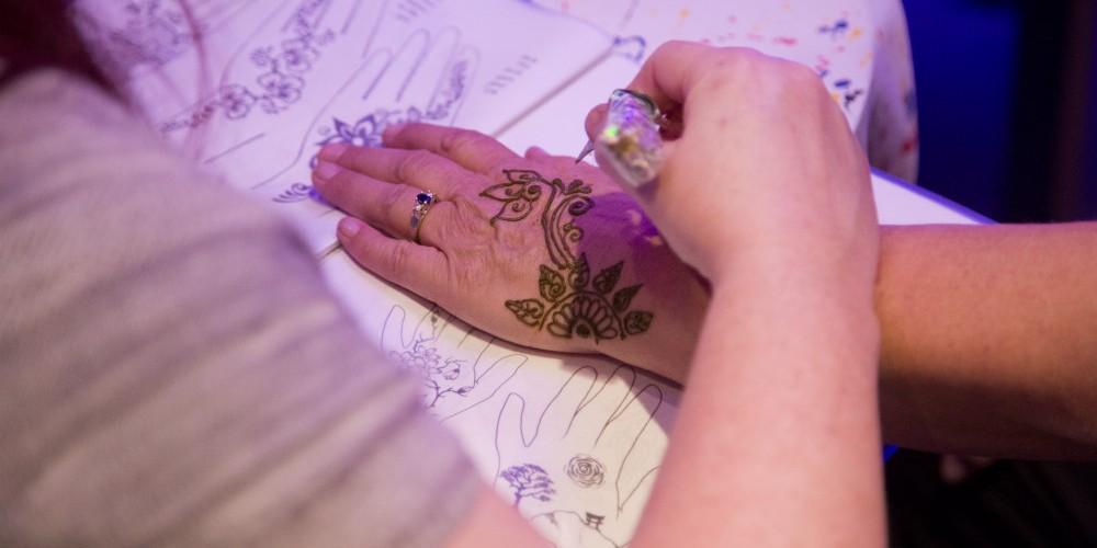 Havana Nights henna tattoo party decor