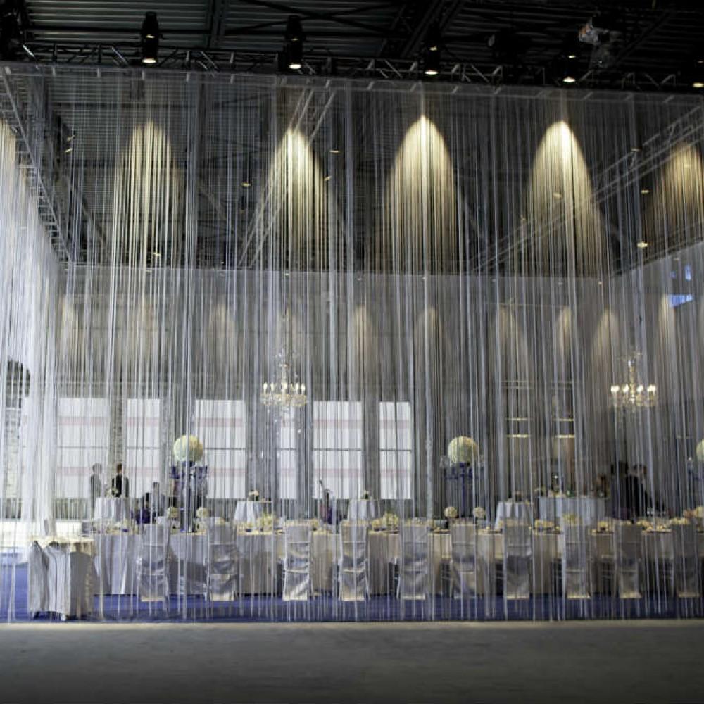 Fringe curtain decor