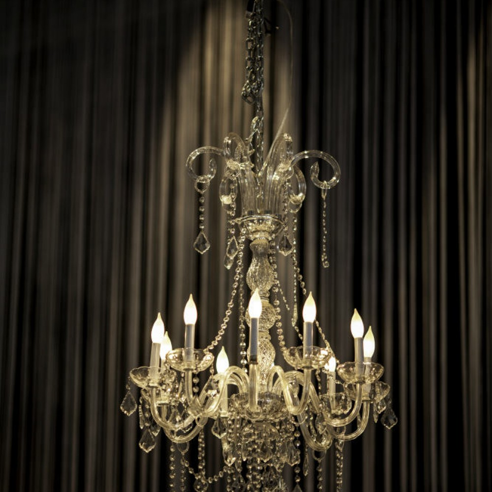 Event decor chandeliers