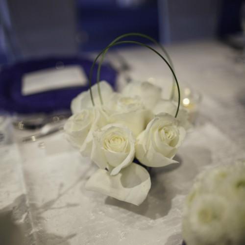 Behind the Fringe Curtain flower centerpiece