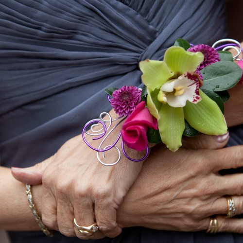Wedding florist - wrist corsages