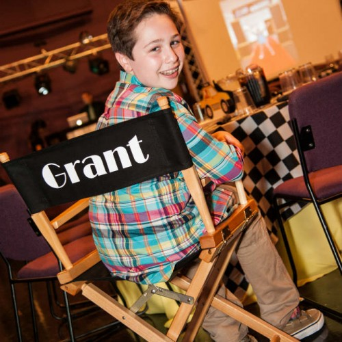 NYC Themed Bar Mitzvah Chair Decoration