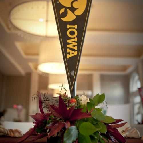 Iowa Hawkeyes flag decor