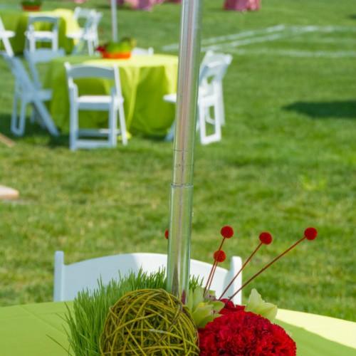 Summer picnic centerpieces