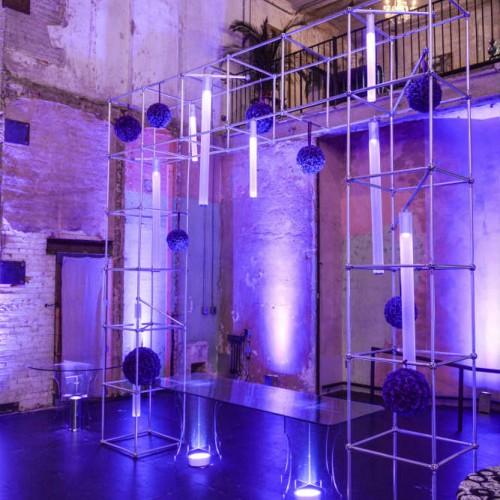 Jazz club decor - blue lighting