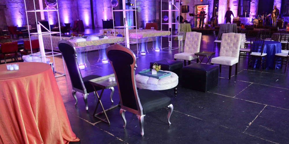 Chairs and jazz club decor