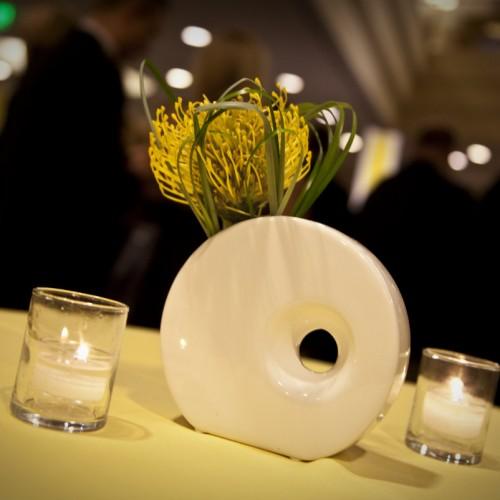 Ronald McDonald Fam Glam 2010 circle vase