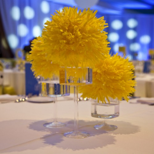 Yellow Dot Gala floral centerpiece