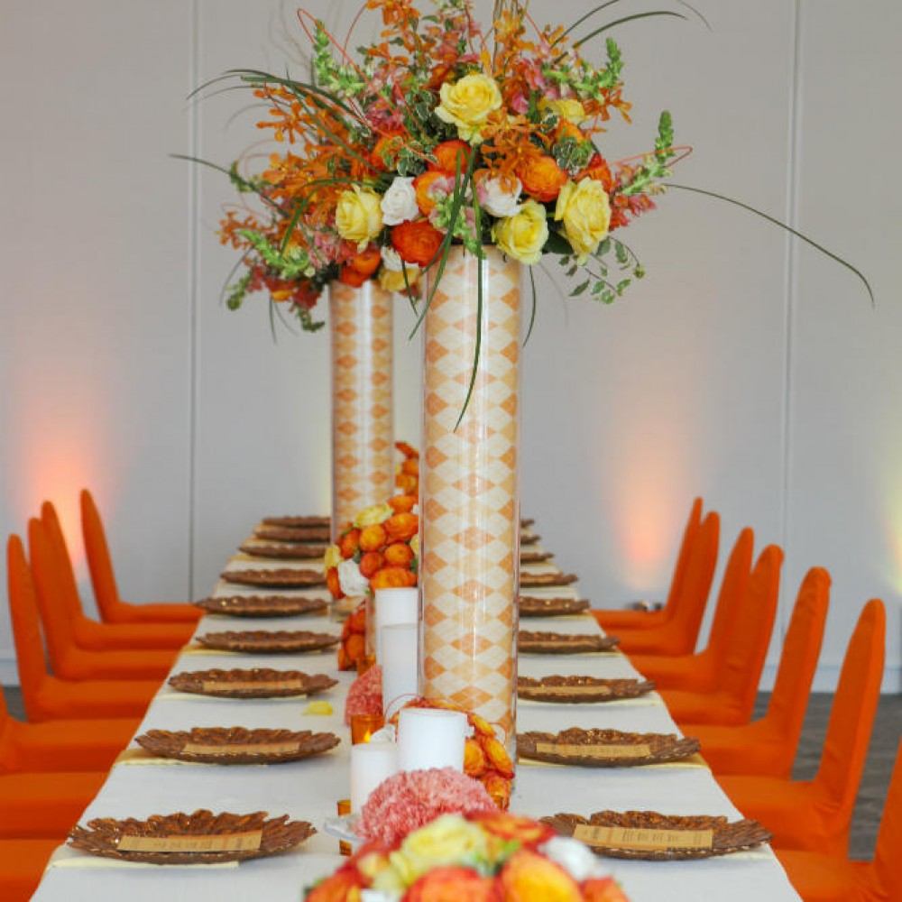 Retirement dinner tablescape design