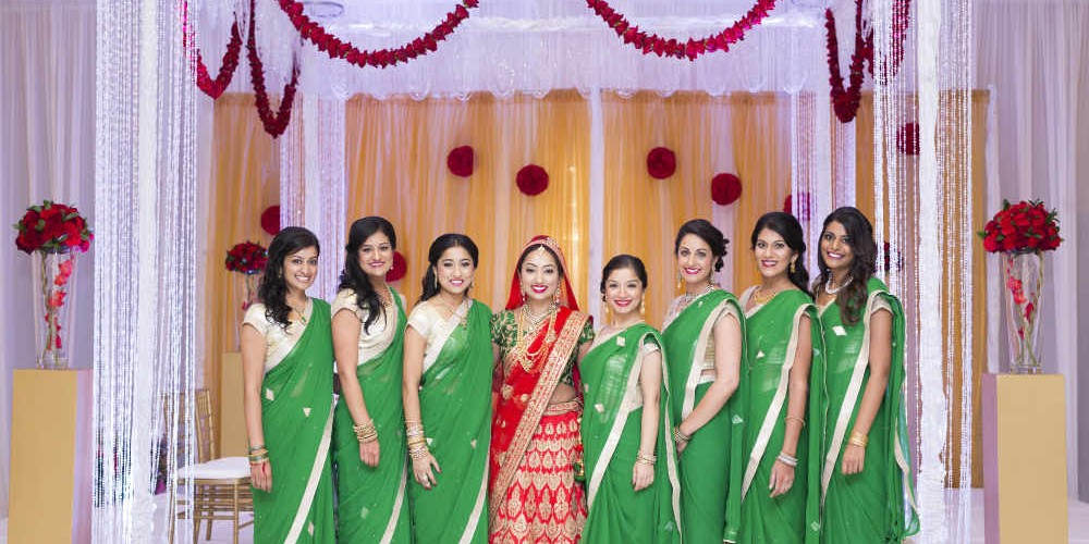 Mathur Ceremony Bridesmaids