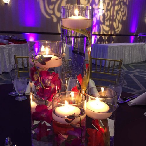 Mathur Reception Candle Centerpiece