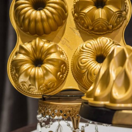 Nordic Ware gold bundts