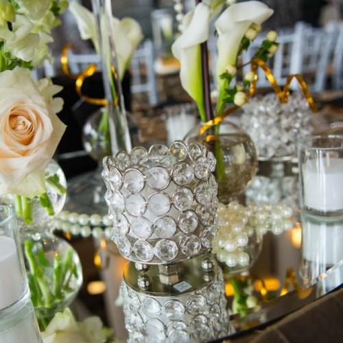 Casey Gatsby Wedding floral centerpiece