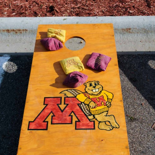 Giant Games branded corn hole