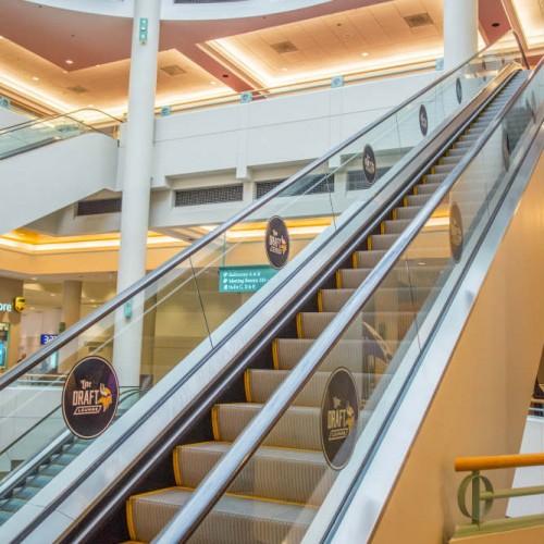 Vikings Draft branded escalator full