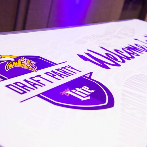 Vikings Draft branded table
