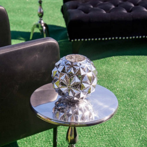 Cambria 2016 Silver side table