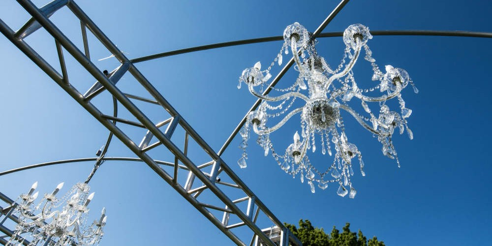 Cambria 2016 entrance chandeliers
