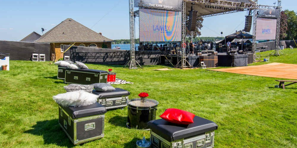 Cambria 2016 road cases and stage