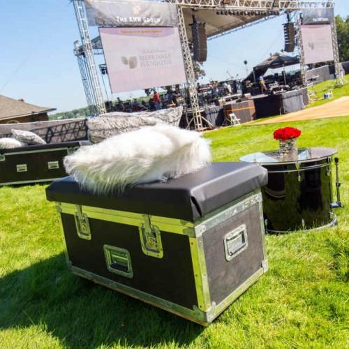 Cambria 2016 road cases drum stage