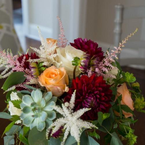 UHG floral arrangement inside