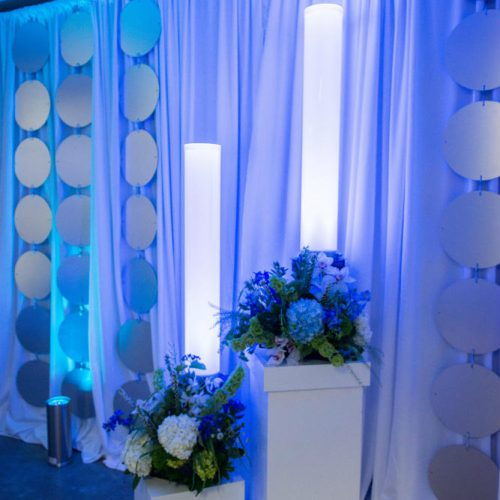 live nation white columns with floral