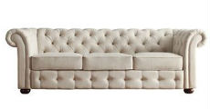 Beige Tufted Sofa 230 x 120