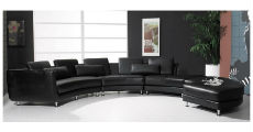 Black Curved Sectional 230 x 120