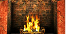 holiday fireplace 9 x 20 230-x-120