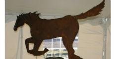 Horse Metal 230 x 120