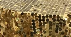 Sequin Lg Paillette Gold 230 x 120