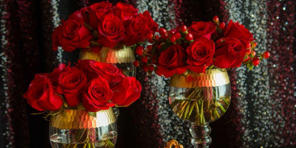 TCF 2017 Roses in Gold Rimmed Goblets
