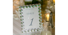 Table Number Crystal 230 x 120