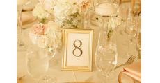 Table Number Gold 230 x 120