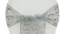 Silver Embroidery Sash 230 x 120