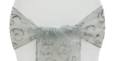 Silver Embroidery Sash 230 x 120