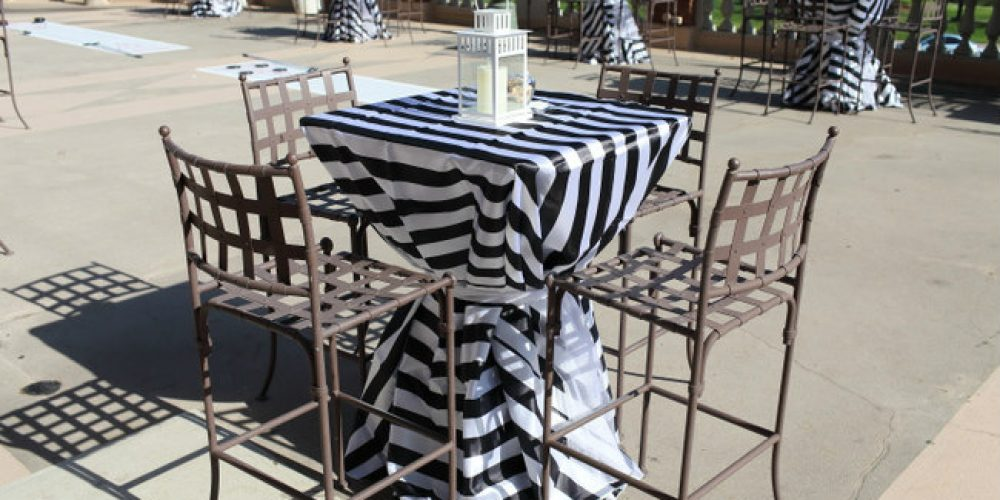 Afremov Black and White stripe linens