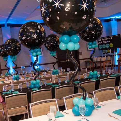 Kibort Mitzvah tables close