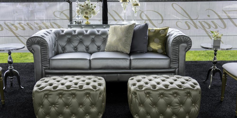Upsher Casino Silver Sofa