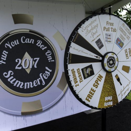 Upsher Casino Wheel and sign