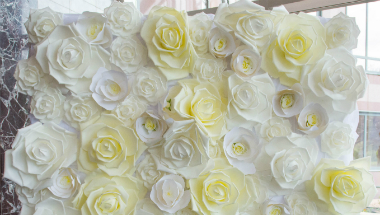 Casey Wedding floral wall 380 x 215
