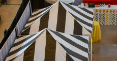 tent topper black-white 230-x 120