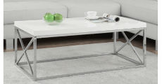 WhiteChromeCoffeeTable 230 x 120