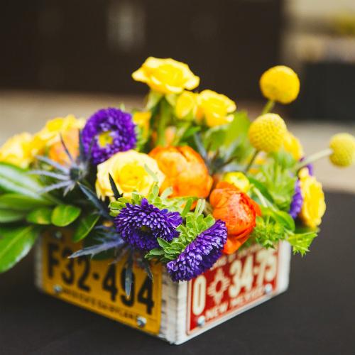 2018GeorgeLaskinBarMitzvah floral centerpiece 1