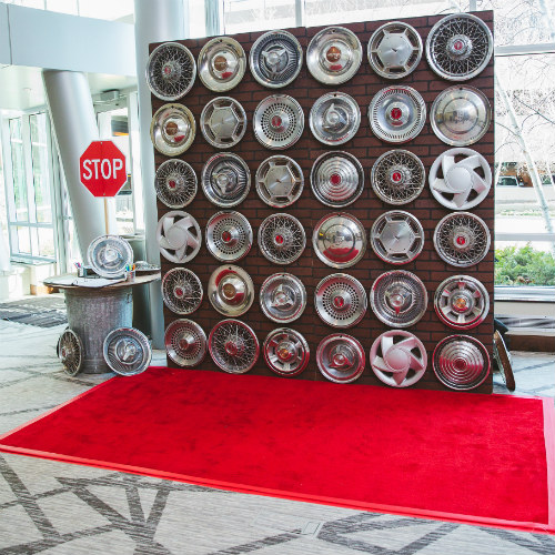 2018GeorgeLaskinBarMitzvah wheel backdrop