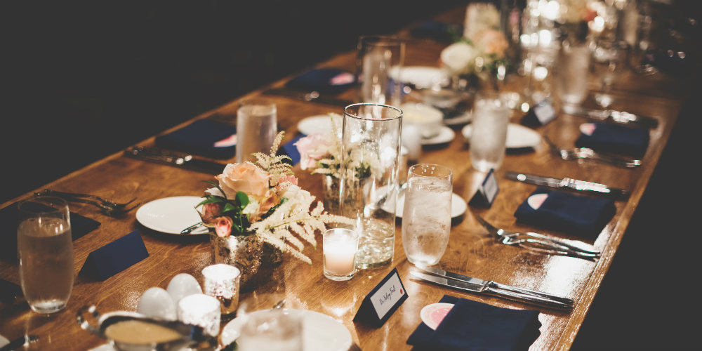 Wedding decorations tablescape design