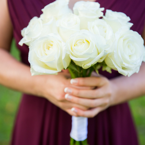 Ewald Vortherms bridesmaid bouquet