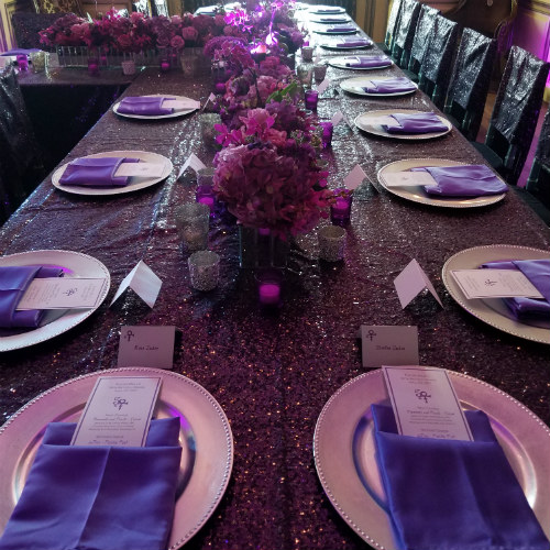 Kathy Deal Prince Prom long table