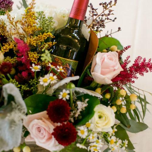 Marshall Bettendorf wine bottle flowers