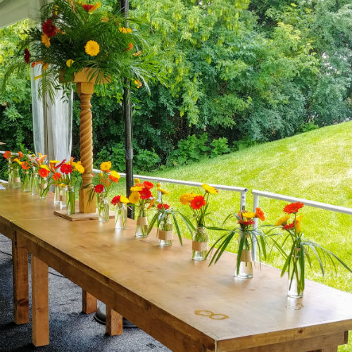 Anniversary party tablescapes